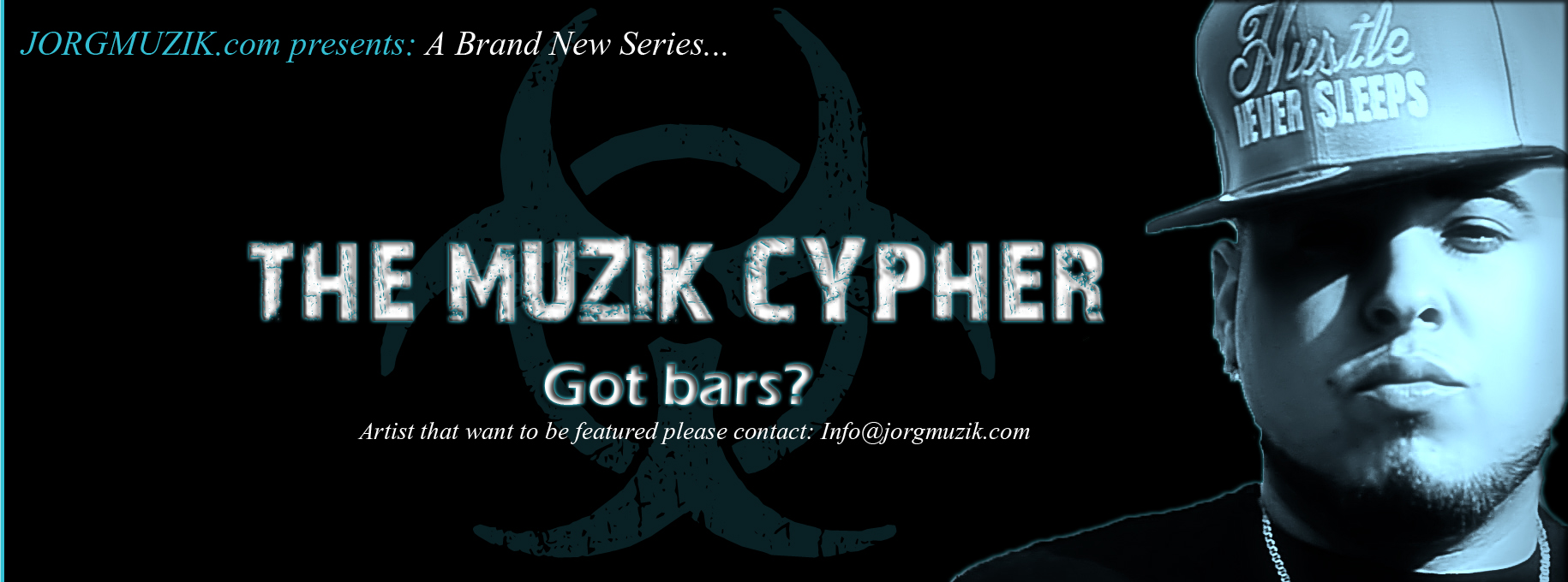 The Muzik Cypher (#TMC) A monthly video series. Jor-G & Artist showcase raw rhymes and killer flows acappella.  please Subscribe for upcoming videos and Cyphers.<br />to be featured on The Muzik Cypher please contact: info@jorgmuzik.com<br />for more info please visit www.JORGMUZIK.com/CYPHER